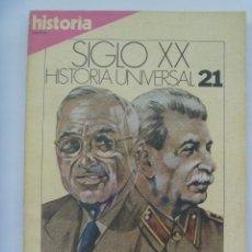 Coleccionismo de Revista Historia 16: HISTORIA´16 : SIGLO XX , HISTORIA UNIVERSAL, Nº 21 : LA GUERRA FRIA . OTAN FRENTE PACTO VARSOVIA.. Lote 133720746