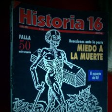 Coleccionismo de Revista Historia 16: HISTORIA 16. NÚMERO 247 AÑO XXI. MIEDO A LA MUERTE, FALLA 50 ANIVERSARIO. EL ESPANTO DEL RIF. Lote 136346406