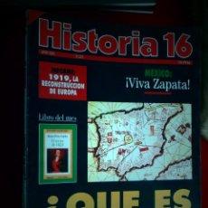 Colecionismo da Revista Historia 16: HISTORIA 16. NÚMERO 215 AÑO XIX. ¿QUÉ ES ESPAÑA? MÉXICO: ¡VIVA ZAPATA!. . Lote 159232978