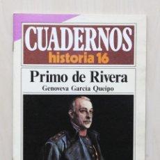 Coleccionismo de Revista Historia 16: CUADERNOS HISTORIA 16, NUM 269. PRIMO DE RIVERA - GARCÍA QUEIPO, GENOVEVA. Lote 139831277