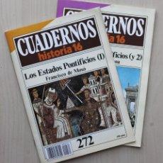 Coleccionismo de Revista Historia 16: CUADERNOS HISTORIA 16, NUM 272 Y 273. LOS ESTADOS PONTIFICIOS (I Y II) - DE MOXÓ, FRANCISCO - LABOA,. Lote 139831281