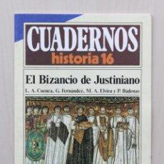 Coleccionismo de Revista Historia 16: CUADERNOS HISTORIA 16, NUM 282. EL BIZANCIO DE JUSTINIANO - CUENCA, L. A. - FERNANDEZ, G. - ELVIRA, . Lote 139831297