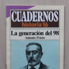Coleccionismo de Revista Historia 16: LA GENERACIÓN DEL 98. (CUADERNOS HISTORIA 16, Nº 285) - PRIETO, ANTONIO. Lote 139831305