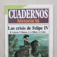 Coleccionismo de Revista Historia 16: CUADERNOS HISTORIA 16, NUM 286. LAS CRISIS DE FELIPE IV - GARCIA, R. - BOUZA, F. - RIBOT, J. A. - CA. Lote 139831309