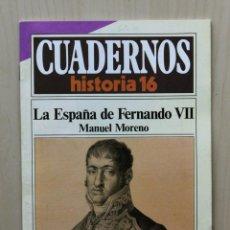 Coleccionismo de Revista Historia 16: CUADERNOS HISTORIA 16, NUM 290. LA ESPAÑA DE FERNANDO VII - MORENO, MANUEL. Lote 139831321