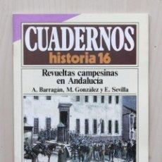 Coleccionismo de Revista Historia 16: CUADERNOS HISTORIA 16, NUM 294. REVUELTAS CAMPESINAS EN ANDALUCÍA - BARRAGÁN, A. - GONZALEZ, M. - SE. Lote 139831329