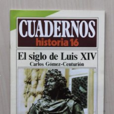 Coleccionismo de Revista Historia 16: CUADERNOS HISTORIA 16, NUM 299. EL SIGLO DE LUIS XIV - GOMEZ-CENTURIÓN, CARLOS. Lote 139831341
