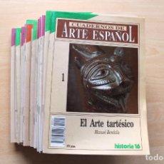 Coleccionismo de Revista Historia 16: LOTE HISTORIA 16 CUADERNOS DE ARTE ESPAÑOL - 38 NÚMEROS. Lote 198368185