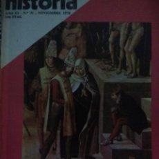 Coleccionismo de Revista Historia 16: HISTORIA 16. AÑO III NÚMERO 31. NOVIEMBRE 1978. REVISTA.. Lote 146759869