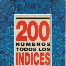 Coleccionismo de Revista Historia 16: REVISTA HISTORIA 16 ÍNDICE 200 NÚMEROS 126 PAG.. Lote 147401330