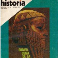 Coleccionismo de Revista Historia 16: 1978. SUMER, CUNA DE LA HISTORIA. CONSPIRACIÓN CONTRA LA REPÚBLICA: LOS DOCUMENTOS SECRETOS DEL PCE.. Lote 148536150