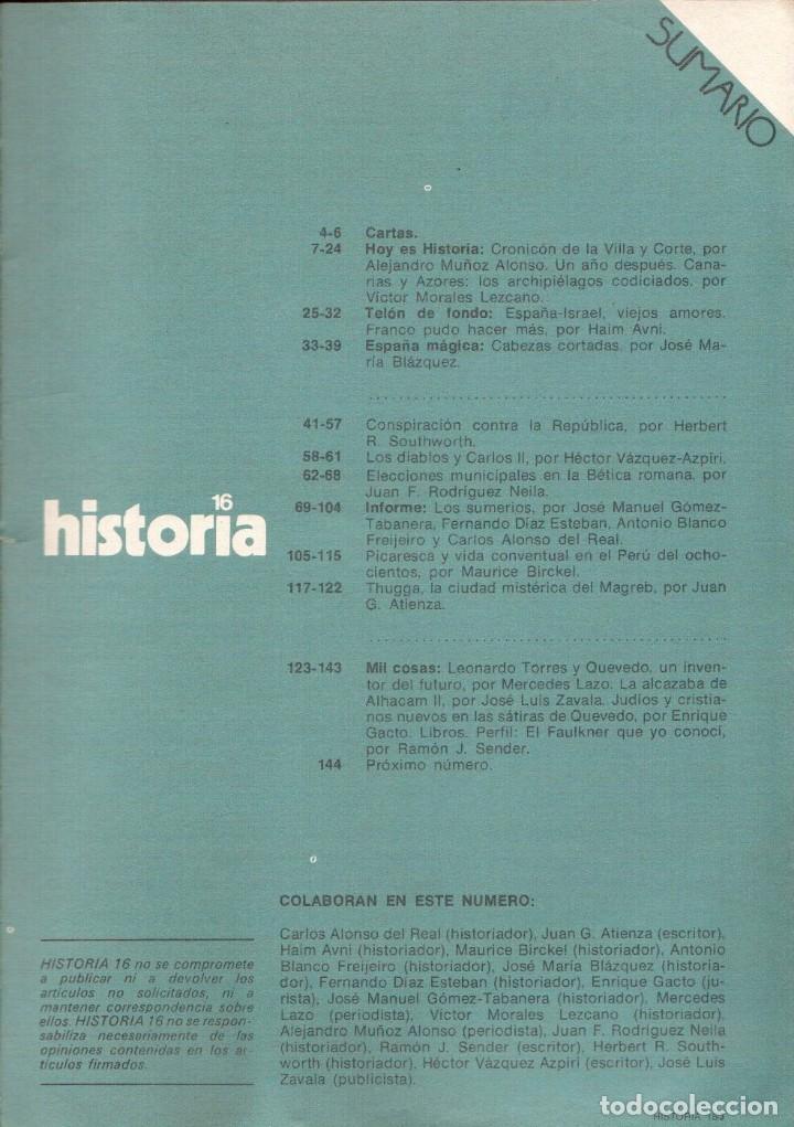 Coleccionismo de Revista Historia 16: 1978. sumer, cuna de la historia. conspiración contra la república: los documentos secretos del PCE. - Foto 2 - 148536150