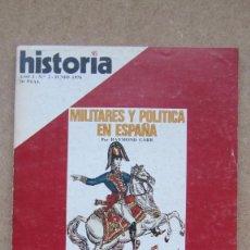 Coleccionismo de Revista Historia 16: HISTORIA 16. Nº 2. MILITARES Y POLÍTICA EN ESPAÑA. . Lote 148552650