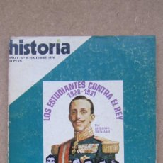 Coleccionismo de Revista Historia 16: HISTORIA 16. Nº 6 LOS ESTUDIANTES CONTRA EL REY. Lote 148553314