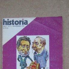 Coleccionismo de Revista Historia 16: HISTORIA 16. Nº 7 AÑO I LOS EQUILIBRIOS CANOVISTAS. Lote 148570154
