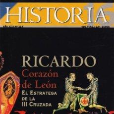 Coleccionismo de Revista Historia 16: HISTORIA 16 Nº 283. RICARDO CORAZÓN DE LEÓN. EL ESTRATEGA DE LA III CRUZADA.. Lote 148673646