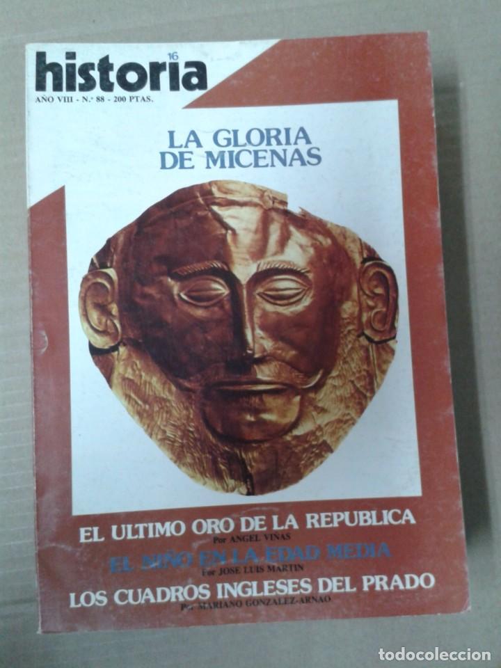 HISTORIA 16, AÑO VIII. NUMERO 88. LA GLORIA DE MICENAS (Coleccionismo - Revistas y Periódicos Modernos (a partir de 1.940) - Revista Historia 16)