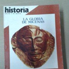 Collectionnisme de Magazine Historia 16: HISTORIA 16, AÑO VIII. NUMERO 88. LA GLORIA DE MICENAS. Lote 155150330