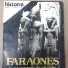 Coleccionismo de Revista Historia 16: HISTORIA 16. AÑO X. Nº116. FARAONES. LOS CONSTRUCTORES DE PIRAMIDES. Lote 155444802