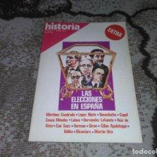 Coleccionismo de Revista Historia 16: REVISTA HISTORIA 16 EXTRA II ABRIL 1977 LAS ELECCIONES EN ESPAÑA. Lote 155939958