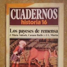 Coleccionismo de Revista Historia 16: LOS PAYESES DE REMENSA (VV. AA.) CUADERNOS HISTORIA 16 - NÚMERO 93 -. Lote 156458710