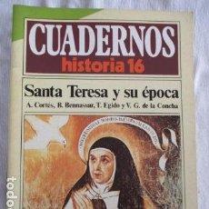 Coleccionismo de Revista Historia 16: CUADERNOS DE HISTORIA 16 - NÚMERO 110 - SANTA TERESA Y SU EPOCA. Lote 157124990