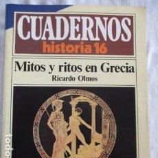 Coleccionismo de Revista Historia 16: CUADERNOS DE HISTORIA 16. N º 127 MITOS Y RITOS EN GRECIA. Lote 157125110