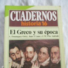 Coleccionismo de Revista Historia 16: CUADERNOS DE HISTORIA 16. N º 99 EL GRECO Y SU EPOCA. Lote 157125990