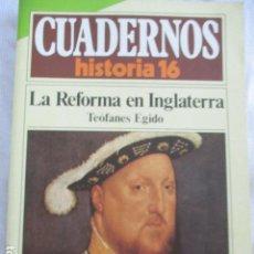 Coleccionismo de Revista Historia 16: CUADERNOS DE HISTORIA 16. N º 125 LA REFORMA EN INGLATERRA. Lote 157126302