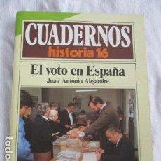Coleccionismo de Revista Historia 16: CUADERNOS DE HISTORIA 16. N º 126 EL VOTO EN ESPAÑA. Lote 157126406