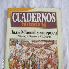 Coleccionismo de Revista Historia 16: CUADERNOS DE HISTORIA 16. N º 62 JUAN MANUEL Y SU EPOCA. Lote 157128230