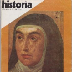 Coleccionismo de Revista Historia 16: SANTA TERESA DE JESÚS, INFORME (VER SUMARIO) - HISTORIA 16 AÑO VII Nº 78 - 1982. Lote 159268722
