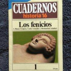Coleccionismo de Revista Historia 16: CUADERNOS HISTORIA 16 Nº 1 - LOS FENICIOS. Lote 163804338