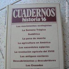 Coleccionismo de Revista Historia 16: CUADERNOS DE HISTORIA 16 ECUADERNADOS VER FOTOS VOL,14 DEL 131, AL, 140. Lote 166783610