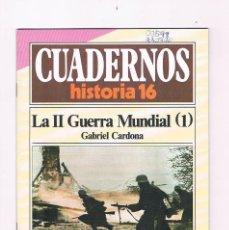 Coleccionismo de Revista Historia 16: CUADERNOS HISTORIA 16 LA SEGUNDA GUERRA MUNDIAL 1 NUMERO 71 1985. Lote 169880088