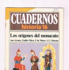 Coleccionismo de Revista Historia 16: CUADERNOS HISTORIA 16 LOS ORIGENES DEL MONACATO NUMERO 59 1985. Lote 169880480