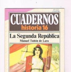 Coleccionismo de Revista Historia 16: CUADERNOS HISTORIA 16 LA SEGUNDA REPUBLICA NUMERO 22 1985. Lote 169880628