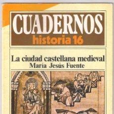 Coleccionismo de Revista Historia 16: CUADERNOS HISTORIA 16 NUMERO 204: LA CIUDAD CASTELLANA MEDIEVAL. Lote 171782070