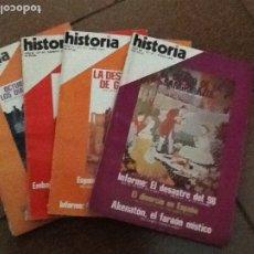 Coleccionismo de Revista Historia 16: LOTE DE CUATRO REVISTAS HISTORIA 16. AÑOS 77-78. Lote 172356140