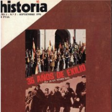Collectionnisme de Magazine Historia 16: HISTORIA 16 Nº 5 - 36 AÑOS DE EXILIO - JUAN MARICHAL. Lote 174032492
