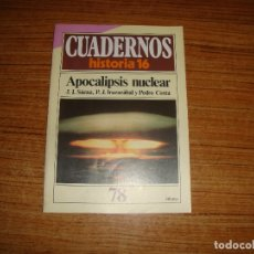 Coleccionismo de Revista Historia 16: REVISTA CUADERNOS HISTORIA 16 APOCALIPSIS NUCLEAR Nº 78. Lote 176592764
