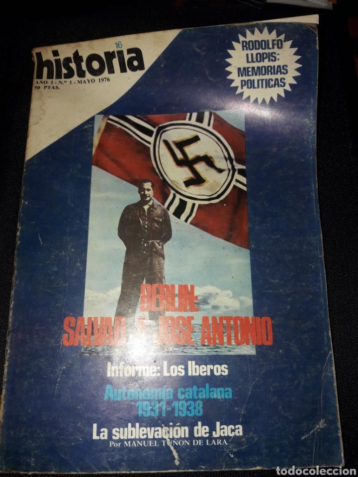 HISTORIA 16 NÚMERO 1. MAYO 1976. BERLÍN: SALVAD A JOSÉ ANTONIO. FALANGE (Coleccionismo - Revistas y Periódicos Modernos (a partir de 1.940) - Revista Historia 16)