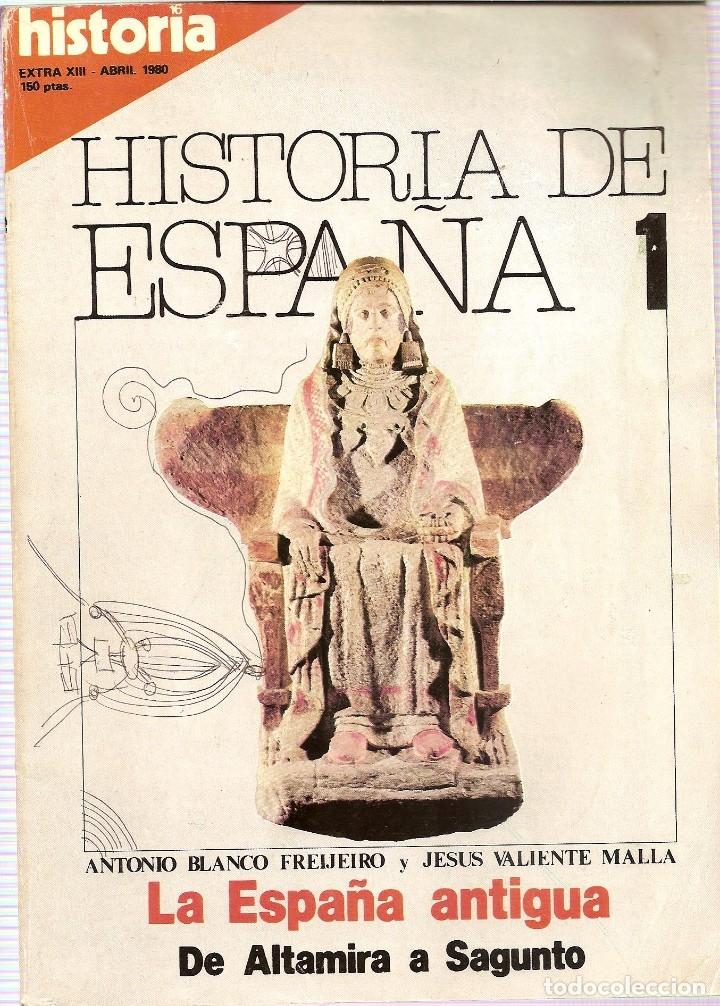 Coleccionismo de Revista Historia 16: 5 REVISTAS HISTORIA 16 EXTRA -HISTORIA ESPAÑA 1-2-7-Y 13 HISTORIA EXTRA III JUNIO 1977 - Foto 3 - 181415493