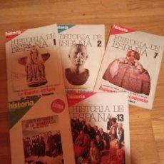 Coleccionismo de Revista Historia 16: 5 REVISTAS HISTORIA 16 EXTRA -HISTORIA ESPAÑA 1-2-7-Y 13 HISTORIA EXTRA III JUNIO 1977. Lote 181415493