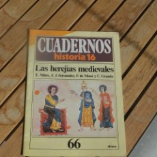 Coleccionismo de Revista Historia 16: CUADERNOS HISTORIA 16.LAS HEREJIAS MEDIEVALES.AÑO 1985. Lote 182983883