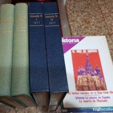 Coleccionismo de Revista Historia 16: LOTE 4 TOMOS HISTORIA 16 - NÚMEROS 1 AL 16 + DOS NÚMEROS SUELTOS 11 Y 26. Lote 183258307