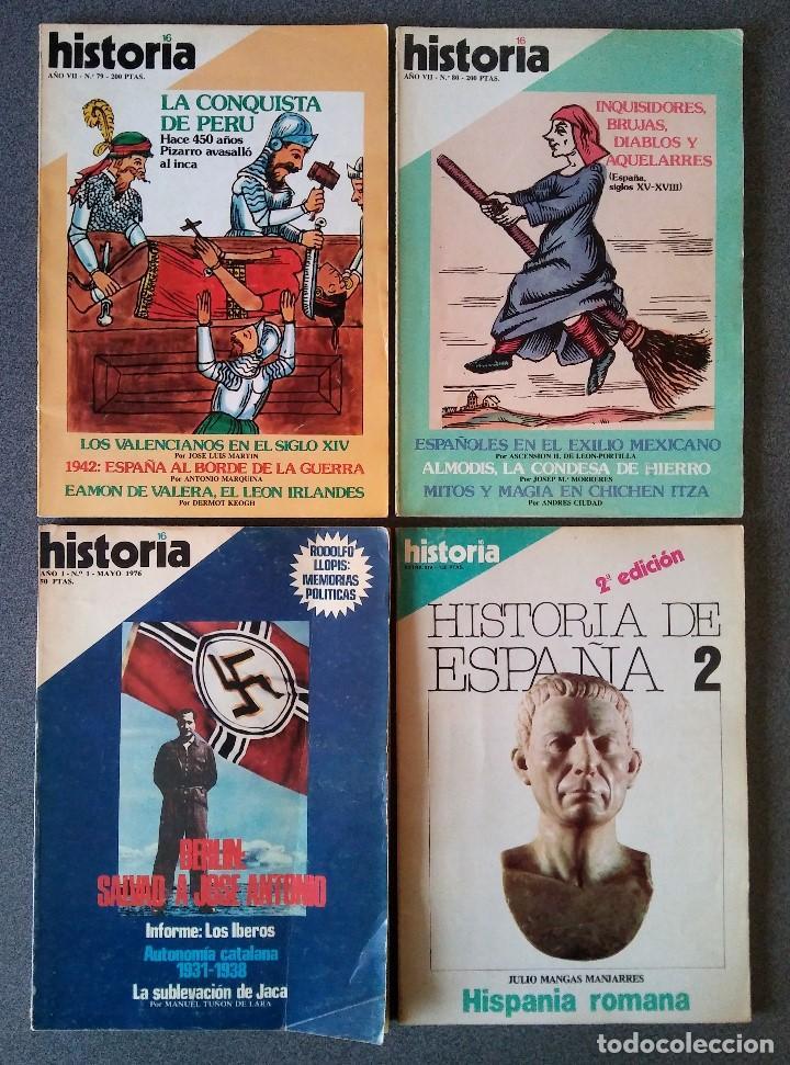 LOTE REVISTAS HISTORIA 16 (Coleccionismo - Revistas y Periódicos Modernos (a partir de 1.940) - Revista Historia 16)