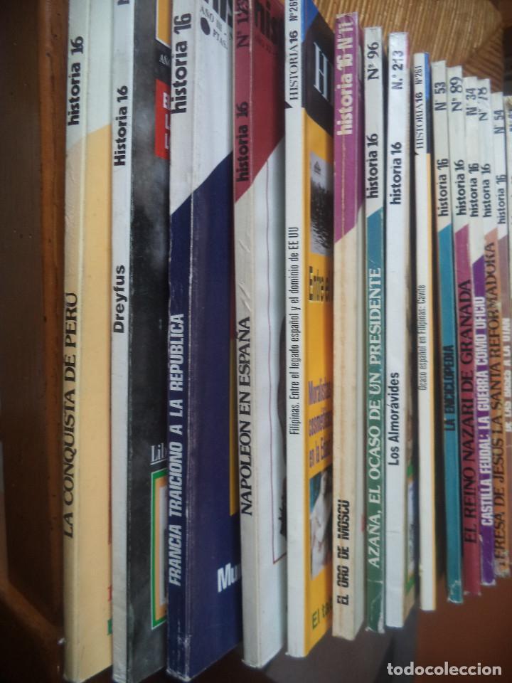 COLECCION DE 16 REVISTAS DE HISTORIA 16 DEL SIGLO PASADO , AÑOS 70 U 80 BUENA CONSERVACION (Coleccionismo - Revistas y Periódicos Modernos (a partir de 1.940) - Revista Historia 16)