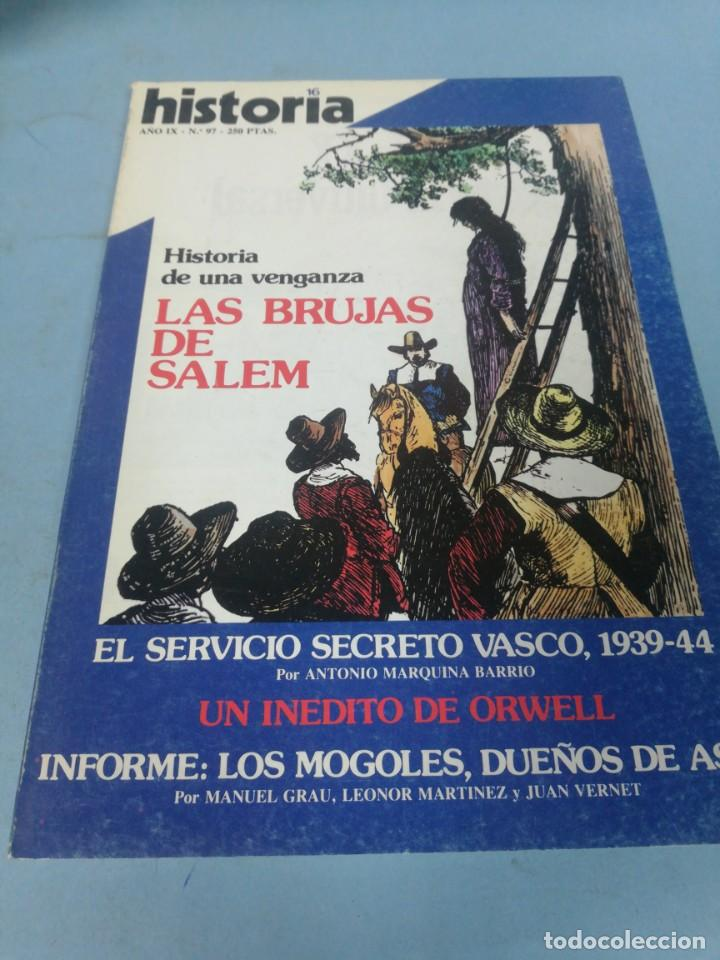 REVISTA HISTORIA 16. NÚMERO 97. (Coleccionismo - Revistas y Periódicos Modernos (a partir de 1.940) - Revista Historia 16)
