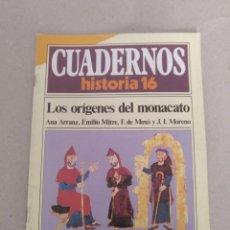 Coleccionismo de Revista Historia 16: CUADERNOS HISTORIA 16 NÚM 59. LOS ORÍGENES DEL MONACATO. ANA ARRANZ, EMILIO MITRE, MOXÓ, MORENO. Lote 191795551